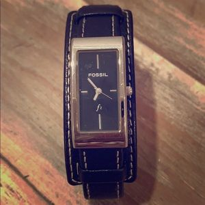 Fossil Leather Watch; EUC needs battery